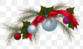 Christmas - Christmas Tree Branch New Year Clip Art PNG