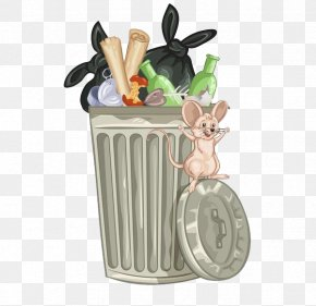 Garbage Rat In The Garbage Can - Stock Photography Royalty-free Waste Container Clip Art PNG