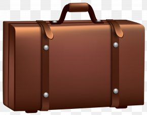 Brown Suitcase Clip Art Image - Suitcase Baggage Clip Art PNG