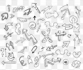 Arrow Sketch - Drawing Doodle Sketch PNG