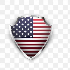 American Flag Shield Vector Material - United States Euclidean Vector Icon PNG