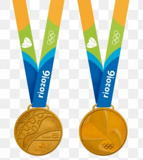 Medal - 2016 Summer Olympics Olympic Games Rio De Janeiro Gold Medal PNG