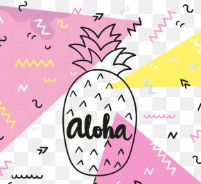Pineapple Background - Hawaii Aloha Pineapple Vecteur Euclidean Vector PNG