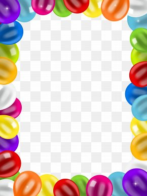 Balloons Border Frame Clip Art Image - Balloon Birthday Clip Art PNG