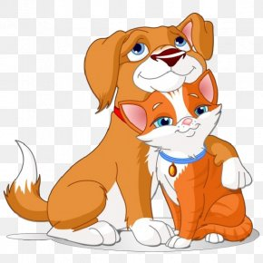 Cartoon Pictures Of Dogs And Cats - Scottish Fold Dog Puppy Kitten Clip Art PNG