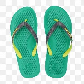 Quiksilve Green Sandals - Flip-flops Download Beach PNG