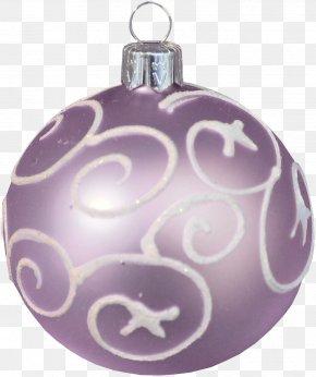 Lilac Pattern Pendant - Purple Lilac Christmas Ornament PNG