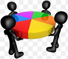 Little Black People Together To Lift The Color Lucky Turntable - Share Stock Market Business Company PNG