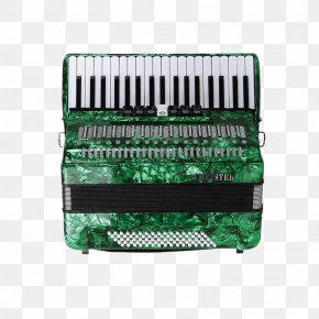 Imported Green Accordion - Diatonic Button Accordion Garmon Free Reed Aerophone Musical Instrument PNG