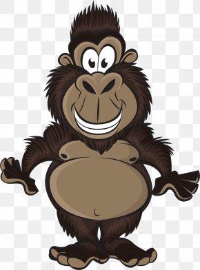 Gorilla - Western Gorilla Chimpanzee Ape Monkey PNG