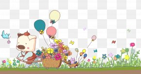 Hand-painted Pig Cartoon Illustration Spring Pull Floats Free Download - Cartoon Illustration PNG