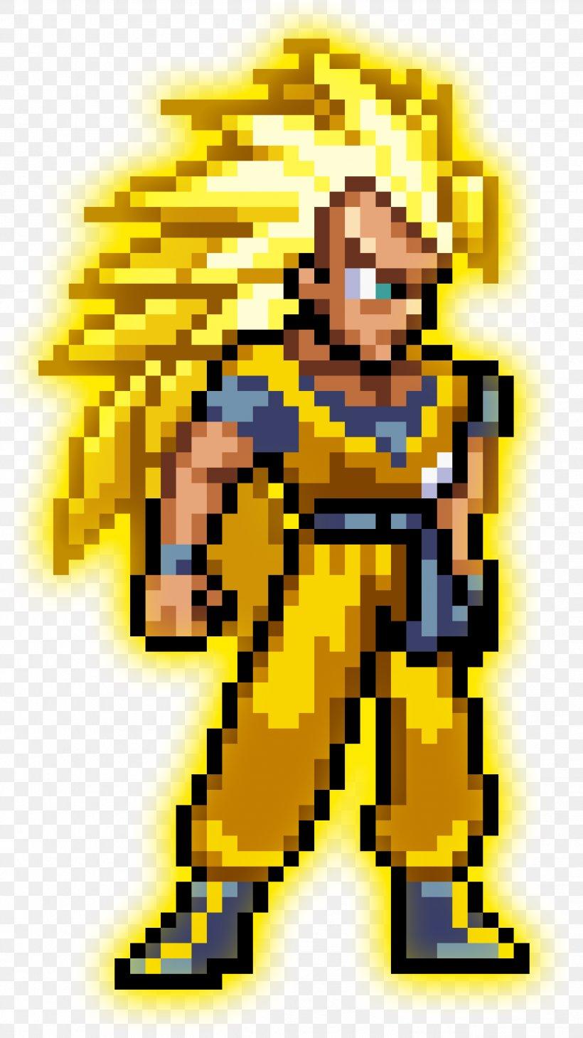 Goku Vegeta Super Saiyan Pixel Art Png 2517x4484px Goku
