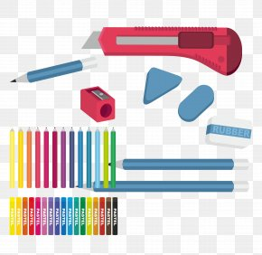 School Supplies Pencil Eraser - Eraser Graphic Design Pencil PNG
