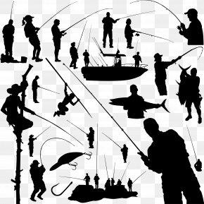 Fishing - Fishing Rod Fisherman Clip Art PNG