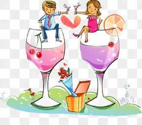 Cheers Illustration Of Men And Women - Cartoon Royalty-free Stock Illustration Illustration PNG