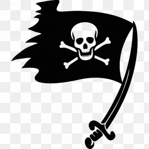 Flag - Jolly Roger Golden Age Of Piracy Skull And Crossbones Flag PNG