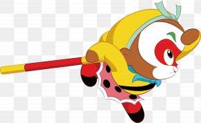 Leap The Cartoon Sun Wukong - Sun Wukong Journey To The West Cartoon PNG