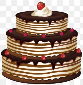 Cake Transparent Clip Art Image - Birthday Cake Chocolate Cake Cupcake PNG