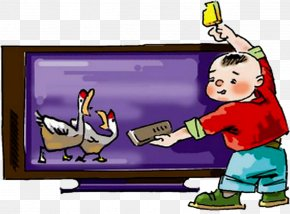 Children Watch TV - Television Child PNG