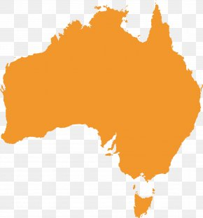 Yellow Map Of Australia And Australia Creative - Australia Map PNG
