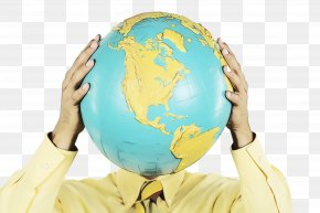Gesture Hand - Globe Yellow Earth World Planet PNG