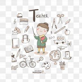Teacher's Day Cartoon Teacher - Alphabet Profession Letter Illustration PNG