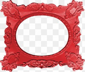 Red Mirror - Red Picture Frame Mirror PNG