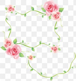 Rose - Borders And Frames Decorative Corners Rose Clip Art PNG