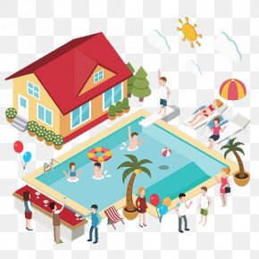 Swimming Pool And House - Swimming Pool PNG