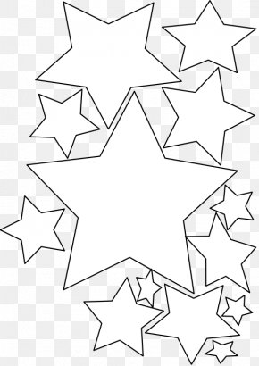 Stars Line Cliparts - Christmas Card Coloring Book Greeting Card Clip Art PNG
