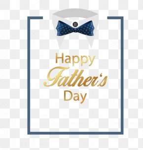 Father's Day Shirt Blue Bow Vector Material - Fathers Day Shirt PNG