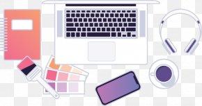 Flat Lay - Computer Keyboard User Interface Design Graphic Design Web Design PNG