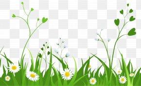Flower Grass Cliparts - Flower Free Content Clip Art PNG