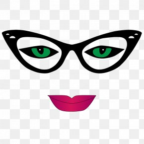 Cat Eye Glasses - Glasses Eye Goggles Clip Art PNG