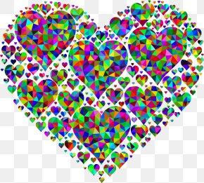 Poly Vector - Heart Desktop Wallpaper Valentine's Day Clip Art PNG