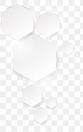 Hexagonal Base Map Of Science And Technology - Black And White Pattern PNG