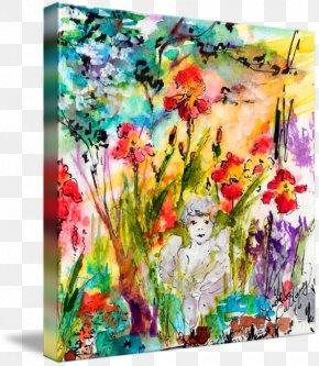 Watercolor Garden - Floral Design Watercolor Painting Modern Art PNG