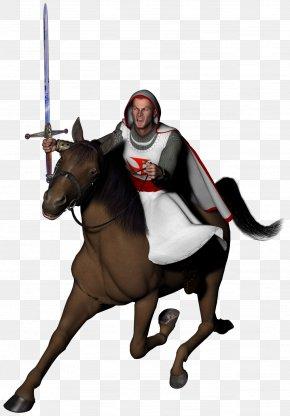 Medival Knight - Horse Knights Templar PNG