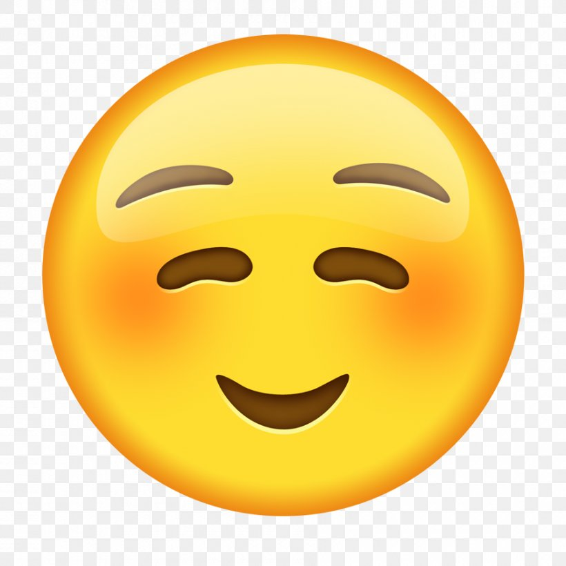 Emoji Emoticon Blushing Smiley Text Messaging, PNG