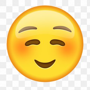 Emoji - Emoji Emoticon Blushing Smiley Text Messaging PNG