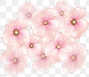 Pink Flowers Transparent Clipart - Pink Flowers Clip Art PNG