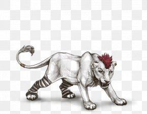 Lion - Lion Tiger Cat Drawing Terrestrial Animal PNG