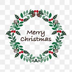 Christmas Tree - Christmas Tree Wreath Santa Claus Christmas Day Gift PNG