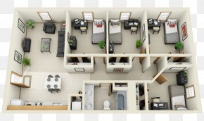 Apartment - 3D Floor Plan Bedroom Interior Design Services House PNG