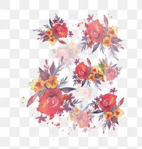Vector Hand-painted Floral Decoration - Floral Design Wedding Invitation Flower PNG