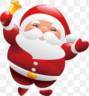 Hand-painted Santa Claus - Santa Claus Christmas Clip Art PNG