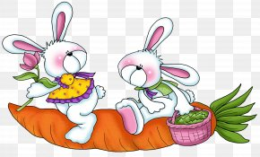 Easter - Easter Bunny Phrase Happiness Love PNG