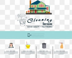Home Cleaning Service - Service Cleanliness Flyer Icon PNG