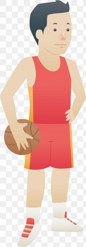 Cartoon Basketball Player Vector - Cartoon Basketball Illustration PNG