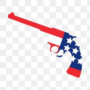 American Flag - Firearm United States Pistol Weapon Handgun PNG